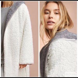 Anthropologie Pure & Good Sherpa Reversible Robe